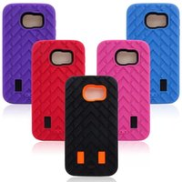 Wholesale S6 Cases Samsung Galaxy S6 Case Rugged Tire Case in Silicone PC Hybrid Robot Case for Samsung Galaxy S6