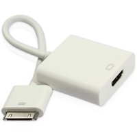 apple connector to hdmi - 30Pin to HDMI Apple Dock Connector to HDMI Female P Adapter Cable for iPad iPhone S Ipod C07MHL HDMI