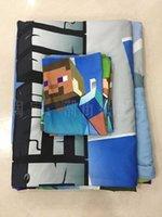 Wholesale 3D Cartoon Miner Game Bedding Sets Bedding Duvet Cover Set High Quality Cotton Official Design Kids Bedding Duvet Cover Pillow Cover