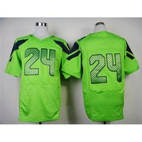 Cheap #24 Green Elite Football Apparels American Football Team Jersey Brand Embroidery Football Jerseys High Quality Mens Football Uniform for Sal