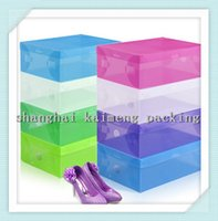 shoes box design - Foldable Design Shoe Storage Box Plastic and Clear Colorful Travel Storage Box for Shoes and sundries