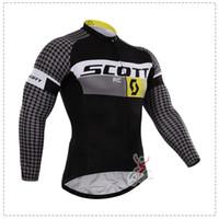al por mayor ropa de lana polar-scott otoño o invierno polar 2015 Cycling Team jerseys de ciclo de la bicicleta MTB de manga larga mountaion Jersey Ropa Camisas