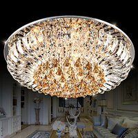Wholesale 45w Chandeliers Flush Mount Crystal LED Traditional Classic Living Room Crystal Sested Room Fit Living Roomll