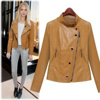 Wholesale New leather jackets European and American ladies PU Leather Coats Women Short Slim Lapel Jacket XM10
