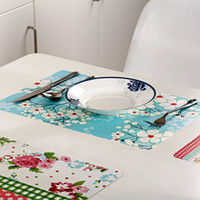 Wholesale 28 cm Korea Floral Square Placemats Dining Tables Place Mats Pad Tableware Utensil Restaurant Catering Accessories Supplies
