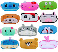 Wholesale 50pcs cartoon Minnie multifunctional bags Domo Kun Stitch pencil case kawaii plush pencil bag for kids pencil box stationery HX