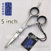 Wholesale 5 or or inch KASHO Hair Cutting Scissors Hair Shears Barber Scissors Hairdressing Scissors made of SUS440C A5
