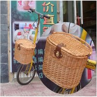 bicycle basket wicker - BICYCLE BIKE WILLOW WICKER BASKET CLASSIC Style