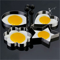 Wholesale Thicken Stainless Steel Egg Pancake Rings Round Heart Mickey Flower Omelette Eggs Fry Moulds Ring