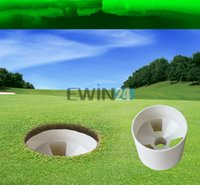 Wholesale 1piece New Professional White Golf Putting Hole Cup Practise Training New and Hot Selling High Quality