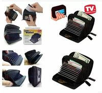 Card Holders accordions - Micro Wallet Palm Sized Purse ID Credit Card Organizer Holder Case w Accordion Expandable Pockets Zipper