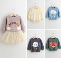 kids winter sweater - Girl Dress Pullover cute Hoodie Sweaters Child Clothes Kids cartoon Clothing colour Sweater Girls Tops Children Pullover