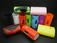 Wholesale RX200 RX200S Silicone Case Colorful Rubber Sleeve Protective Cover Skin Enclosure For Wismec Reuleaux RX200W W SW WS TC Vaping Mods