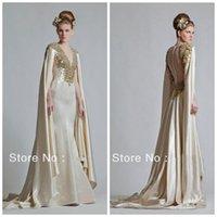 Cheap Model Pictures Vestidos De Noiva Best V-Neck Taffeta evening dresses