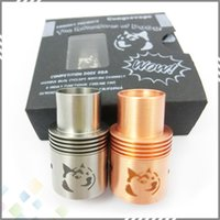 Steel - High quality Doge RDA with Wide Bore Drip tips High Quality Clone Doge V2 Tank colors Stainless Steel Black Copper DHL Free