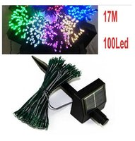 outdoor solar christmas lights - 17M LEDs Solar Light String Lamp Outdoor Lighting Fairy LED lights Waterproof Xmas Christmas Wedding Party Decoration lights