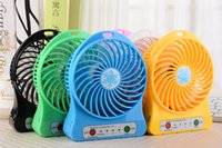 Wholesale Mini Protable Fan Multifunctional USB Rechargerable Kids Table Fan LED Light Battery Adjustable Speed Snow cool Multi Color