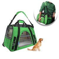 Wholesale Portable Pet Carriers Storage Dog Cage Oxford Cloth Dog Bag Outdoor Travel Handbag For Dog Carring HB0018 smileseller