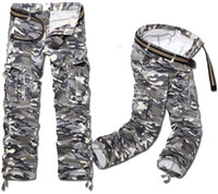 Wholesale 2014 fall New men pants warm army camouflage Cargo Pants plus size casual pants loose trousers XN04