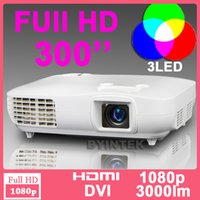 Wholesale 3D Full HD P x1080 Home Theater Laptop Video LCD HDTV LED Multimedia Projector p native proyector beamer