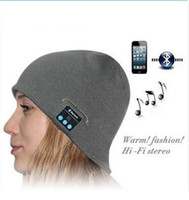 Wholesale New Style Bluetooth Music Hat Soft Keep Warm Cap Stereo Headphone Headset Speaker Wireless Microphone Multi Function Voice DJ Caps girl woma