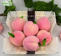 Wholesale 7 CM Artificial fruit simulation foam juicy peach wedding decoration toys for kids