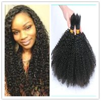 virgin hair bulk - Mongolian Afro Kinky Curly Bulk Hair for Braiding Unprocessed Virgin Mongolian Remy Kinky Curly Human Hair Bulks Afro Kinky Braiding Hair