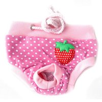 dog diapers - Female Pet Dog Diaper Puppy Sanitary Cute Short Panty Pant Striped Diaper Underwear Pink Color S M L XL