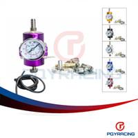 Wholesale PQY STORE Universal Adjustable Fuel Pressure Regulator Gauge JDM FPR PSI PQY7451