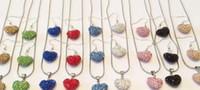 Precio de Mixed crystal beads-regalo de boda de alta calidad hechos a mano blancos colores mezclados los granos de plata del corazón de la arcilla plateado Shamballal cristal collar de la gota pendiente colgante
