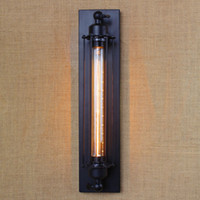 Wholesale NEW Industrial Long Wall Lamp Retro Wall Light Rustic Wall Sconce Vintage Lights for Cafe Bar