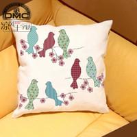 Wholesale Spiraea cool DMC cross stitch magazine Cruncher genuine QT2050 bird pillow cushions