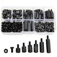 Wholesale M3 Nylon Black Hex M F Spacers Screws Nuts Assorted Kit Standoff