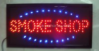 Wholesale 2016 Hot sale custom Graphics Semi outdoor flashing X19 inch smoke shop sign of led smoking shop open
