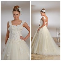 adorn retro - 2016 Retro Custom Spaghetti Flowers Adorned A Line Wedding Dresses With Lace Up Back Custom Bridal Gowns Vintage Formal Bride s Wedding Wear