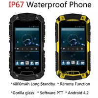Wholesale original MTK6572 Dual Core Android Gorilla glass O2 IP67 remote rugged Waterproof phone G GPS Long Standby mAH PTT Oinom