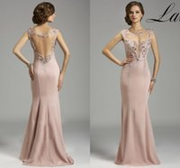 good evening - 2015 New Evening Dresses Sheath Delicate Crystal with Lace Sweep Train Crew Sleeveless Good Quality Stain Floor Length G0