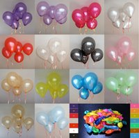 Wholesale HOT SALE Free100pcs inch g baloes Latex Helium balloons Thickening Pearl Wedding Party Birthday Balloon colors