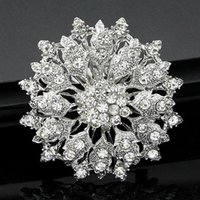 high end clothing - 2016 new South Korean high end luxury alloy silver rhinestone brooch brooch clothing accessories accessories holding flowers