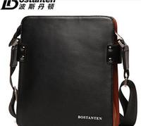 Wholesale 2014 NEW mens new natural cowhide mens bags commercial handbag Genuine leather briefcase messenger bag for men