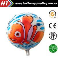 aquarium seal - 50pcs alumnum balloons Festival party supplies Hot inch round foil helium balloon clown fish aquarium in activity self sealing balloo