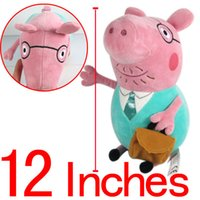 Wholesale 1pcs quot cm Peppa Pig Father Plush Toys Soft Stuffed Animal Dolls Baby Toys Classic Toys ANPT171