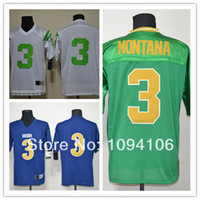 authentic ncaa jerseys - Factory Outlet Cheap Joe Montana Green Blue White Ncaa Notre Dame Fighting Irish Authentic Football Jerseys Montana Embroidery Logo Je