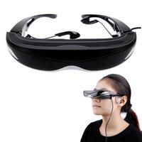 Wholesale High Quality Fashional G quot LCOS Nonradiative Display D D Anti glare Degree Virtual Video Glasses US Plug V896