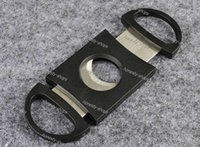Wholesale Pocket Cigar Cutter Plastic Stainless Steel two Blades Scissors Cigar knives good gifts Hot Free Express