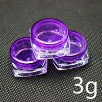 Wholesale Purple plastic cosmetic container square cream jar sample jar g