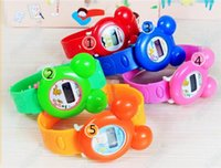 Wholesale Children Watches Kids Watches Children Watches Hot Kids PVC and Waterproof Belt Watches Fashion Girls Cute Mickey Shape and Digital Watches