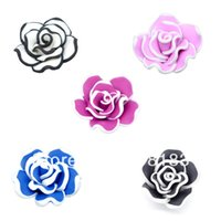 Wholesale Polymer Clay Flower Charm Craft Loose Beads x18mm Making Jewelry DIY