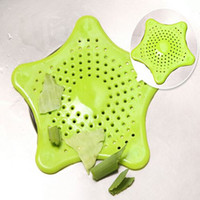 Wholesale 1pc Hot sale kitchen appliances silicone sewer convenient filter barbed wire floor drain sink strainer five pointed star