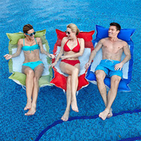 Wholesale Inflation Free Swimming Floating Bed On Water pool Hot Spring Single Floating Bed for Lovers Friends or Family Three colors choosen Cheap